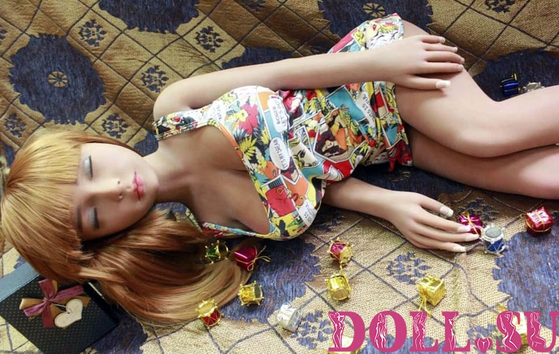 Мини секс кукла Спящая Эмма 110 см - 3